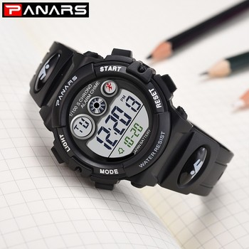 panars sports military children s watches student kids digital watch camouflage green fashion colorful led alarm clock for boys PANARS Children Watches For Boys Girls Gifts Waterproof Sports Watch Kids Clock LED Digital Plastic Electronic Wrist Watches