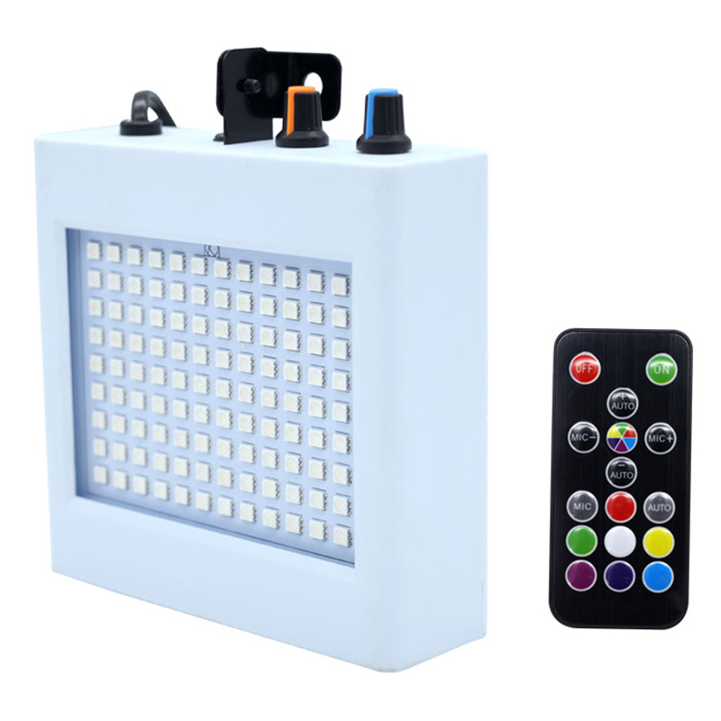 Mini 108 Led Hybrid Stage Light Remote Control Sound Activated Disco Lights For Holiday Party Lights Wedding Ktv Strobe Lights