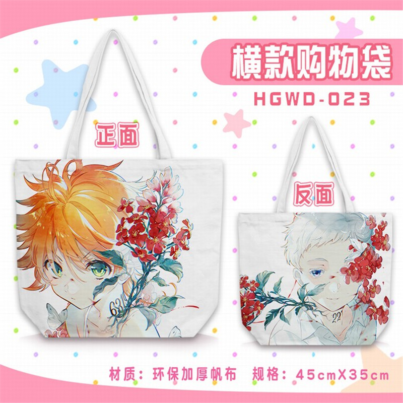 Anime The Promise Neverland figures Emma Norman cosplay Toy Shopping Bag Size 45X35CMAnime The Promise Neverland figures Emma Norman cosplay Toy Shopping Bag Size 45X35CM