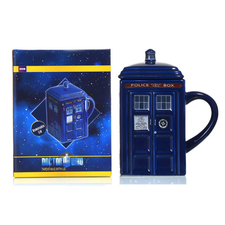 Image 5 - Doctor Who Tardis Police Box Ceramic Mug Cup With Lid Cover For Tea Coffee Mug Funny Creative Gift Christmas Presents Kids Men-in Mugs from Home & Garden