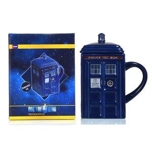 Image 3 - Doctor Who Tardis Police Box Ceramic Mug Cup With Lid Cover For Tea Coffee Mug Funny Creative Gift Christmas Presents Kids Men