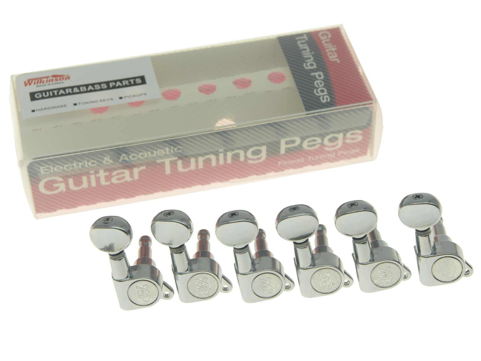Wilkinson 6 Inline Black E-Z LOK Post Guitar Tuners Tuning Keys ...