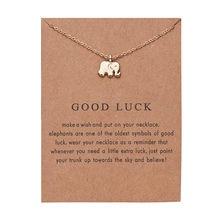 Модное ожерелье с подвеской в виде слона, цепочка для ключиц, эффектное ожерелье для женщин и девушек, праздничные пляжные ювелирные издели...