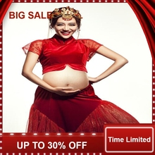 Maternity pregnancy photo shoot Maternity photo Shoot red dress Pregnant Photography Props Fancy Pregnancy недорого
