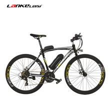700c 36 V Battery 20ah Both Electric Bicycle Disc Brake Resistance Aluminum Alloy Framework 20 - 35 Km To 70 / H Road Bike