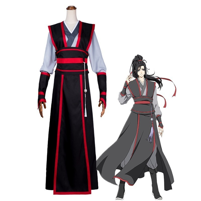 Mo Dao Zu Shi Wei Wuxian Young Cosplay costume Grandmaster of Demonic Cultivation Hanfu anime clothing