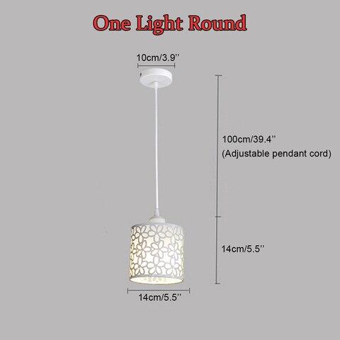 nordico moderno pingente luzes luminarias ferro oco