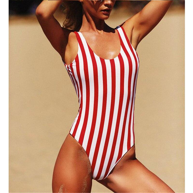 Womens One-Piece spaghetti straps stripe slash neck backless sexy bodycon bodysuit 2020 Women Clothing Summer