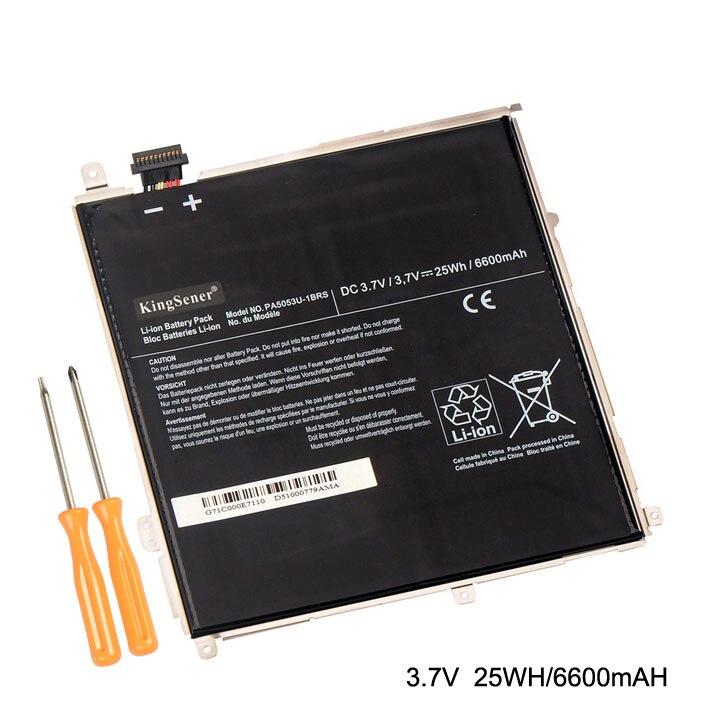 Image 2 - KingSener Новый PA5053U PA5053U 1BRS ноутбук аккумулятор для Toshiba Excite 10 серии планшеты PC PA5053 батарея 3,7 в 25WH/6600 мАч-in Аккумуляторы для ноутбука from Компьютер и офис