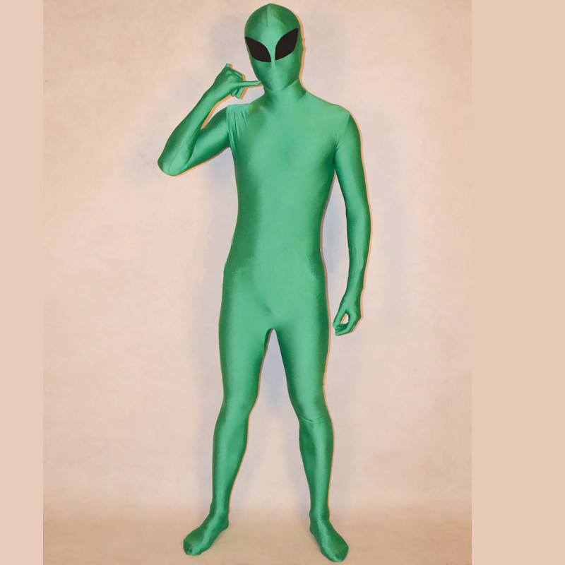 Remove Mask Green Lycra Chromakey Green Screen Body Suit Green Chromakey S-XXL