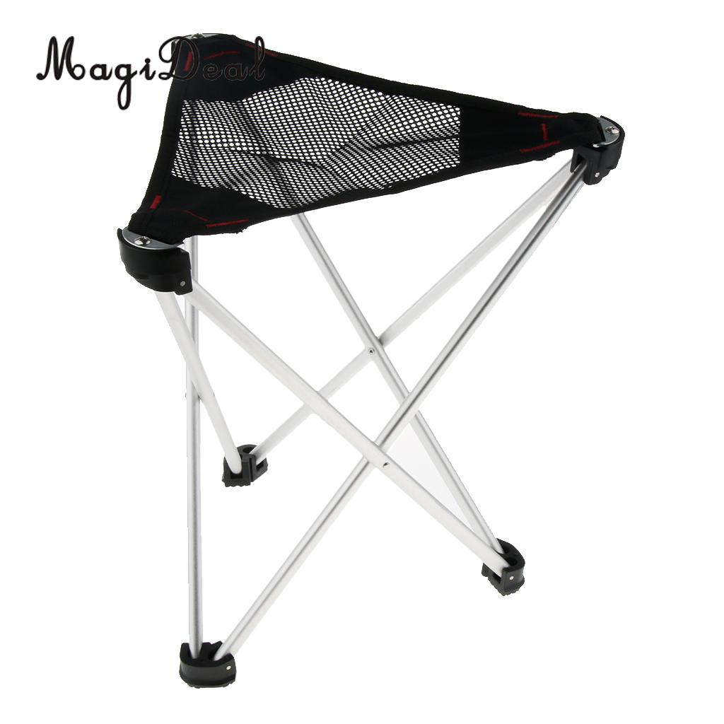 Brilliant Magideal Aluminum Portable Folding Tripod Stool Chair Seat Gamerscity Chair Design For Home Gamerscityorg