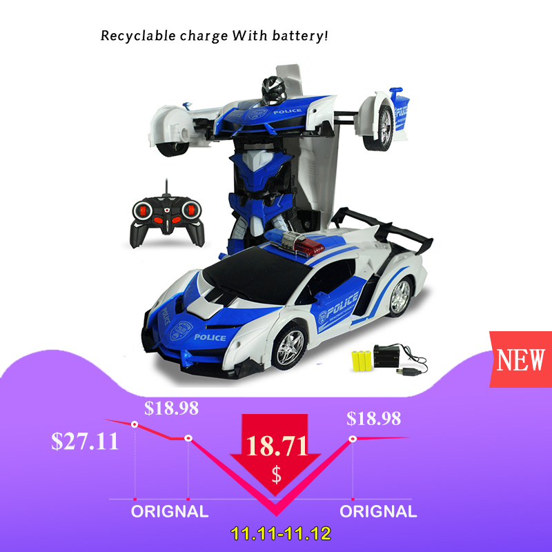 купить RC Car Models Transformation Robots Remote Control Deformation Car Robots ride on toys ride toys