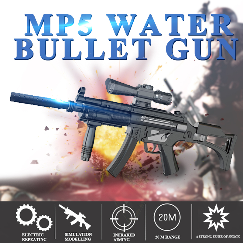 Pistolet jouet D'armes MP5 Jungle Déposées Troupe Électrique 8 Ans jouets pour enfants Paintball D'eau Balles Travailleur Gel Guns Accessoires