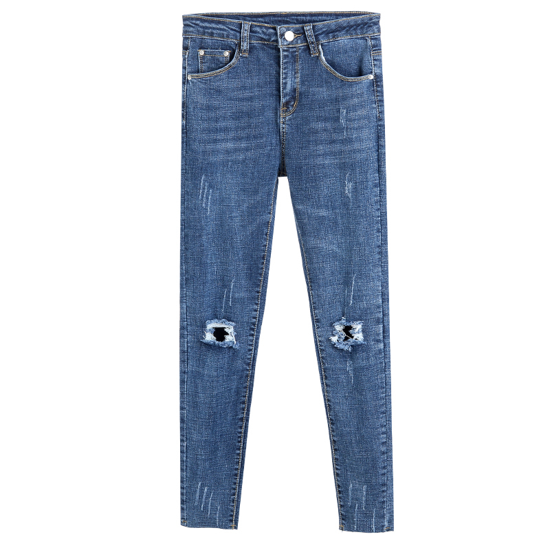 Spring Summer High Waist Skinny Fashion Jeans For Women Hole Vintage Girls Slim Ripped Denim Pencil Pants in Jeans from Women 39 s Clothing