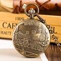 Механические карманные часы для мужчин  часы с рисунком парового шлейфа для мальчиков  золотые часы с автоматическим намоткой  ожерелье  ча...