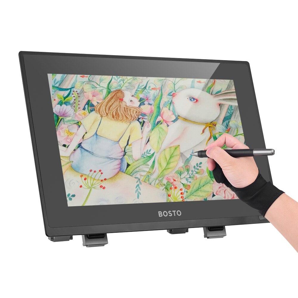 BOSTO 22UR 21.5 Pouces Interactive Pen Display Dessin Moniteur tablette graphique 8192 Niveau Pression 1920*1080 HD Écran