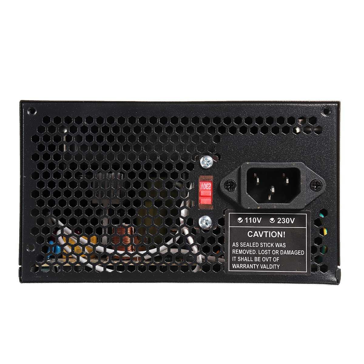 Max 1000 W alimentation PSU PFC ventilateur silencieux ATX 24pin 12 V PC ordinateur SATA Gaming PC alimentation pour Intel AMD ordinateur noir - 3