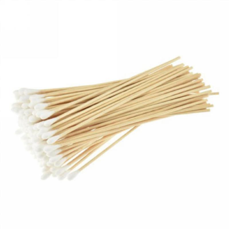 100pcs  Women Makeup Cotton Swabs Cotton Buds Make Up Wood Sticks Nose Ears Cleaning Microbrush Cosmetics Health Care