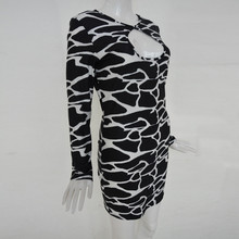 Leopard Print O Neck Long Sleeve Women Dress 2019 Casual Short Package Hip Spring Dress Slim Night Hollow Out Sexy Mini Dress