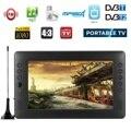 Tüketici Elektroniği'ten Taşınabilir TV'de 12V 9 inç HD Taşınabilir Mini WiFi Dijital ve Analog TV DVB T2 DVB T DTV ATV Araba Akıllı Televizyon USB TF Kart MP4 Ses Video