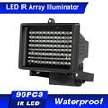 96 светодиодов ИК-осветитель Массив Инфракрасных ламп ночного видения Открытый водонепроницаемый для CCTV камеры безопасности