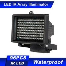 Conjunto de lámparas infrarrojas de 96 LED, iluminación IR, visión nocturna para exteriores, resistente al agua, para cámara de seguridad CCTV