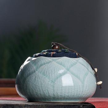 Contenedores de té chinos Vintage, Mini cajas de almacenamiento de cerámica, contenedor...