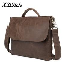 X. D. BOLO мужские сумки из натуральной кожи Crazy Horse кожаная мужская сумка на плечо Повседневная Сумка-тоут для мужчин s