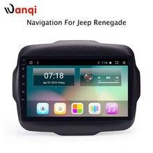 9 дюймов сенсорный экран Android 8,1 8-core dvd-плеер мультимедиа для Jeep Renegade 2016-2018 Радио Навигация BT