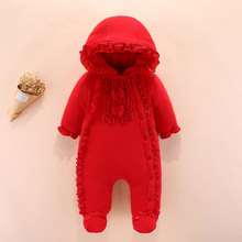 jumpsuit hooded hoodie climbing suit baby's foot wrap