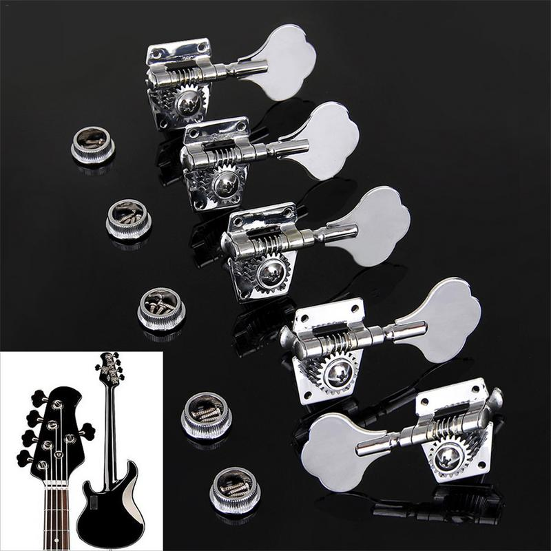 Vintage Open Geared Metal Bass String Tuning Pegs Machine Heads For 4 Strings / 5 Strings Electric Guitar Bass
