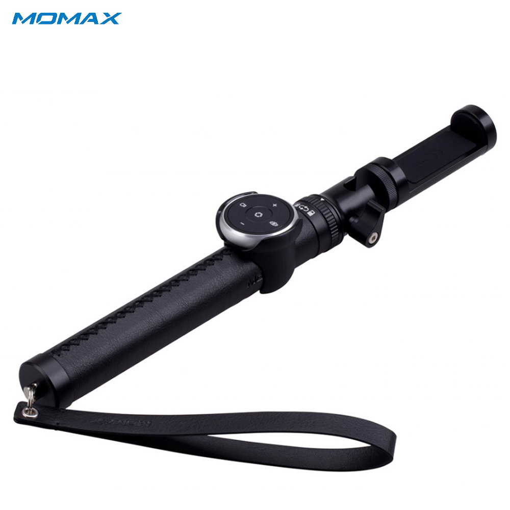 Selfie Sticks Momax KMS4D Camera Photo Handheld Gimbal monopod for smartphone action sg407 double bracket bridge dual holder handle grip monopod mount adapter for action camera