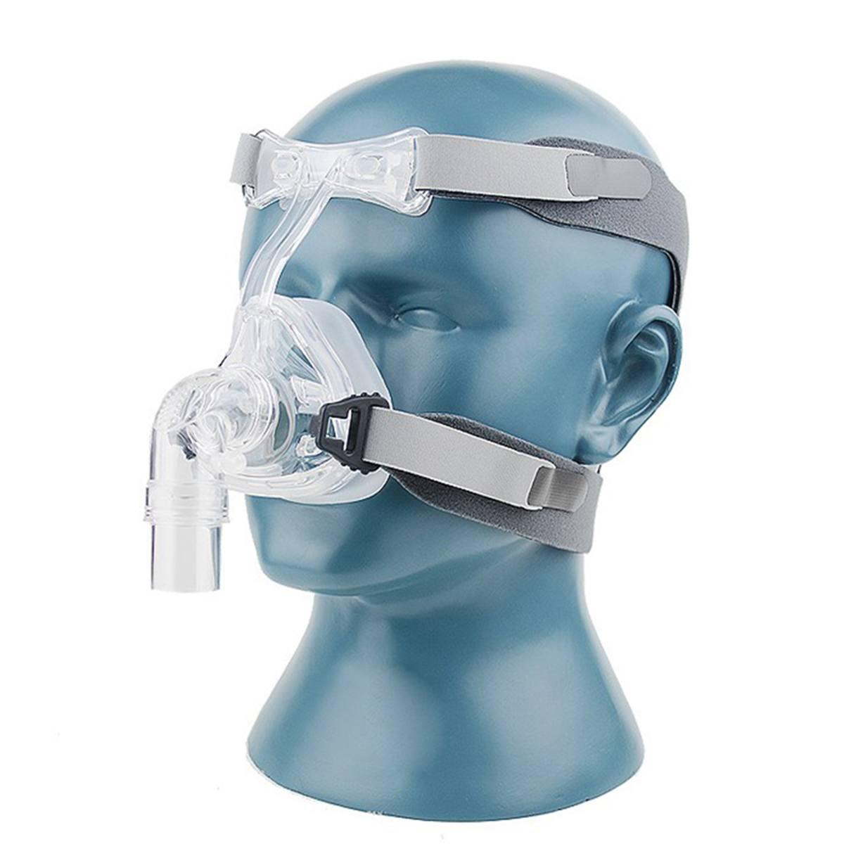 S/M/L Taille CPAP Masque Masque Nasal NM2 Avec Sangle Réglable Coiffures Masques Respiratoires Pour L'apnée Du Sommeil nasal Anti Ronflement Traitement - 4