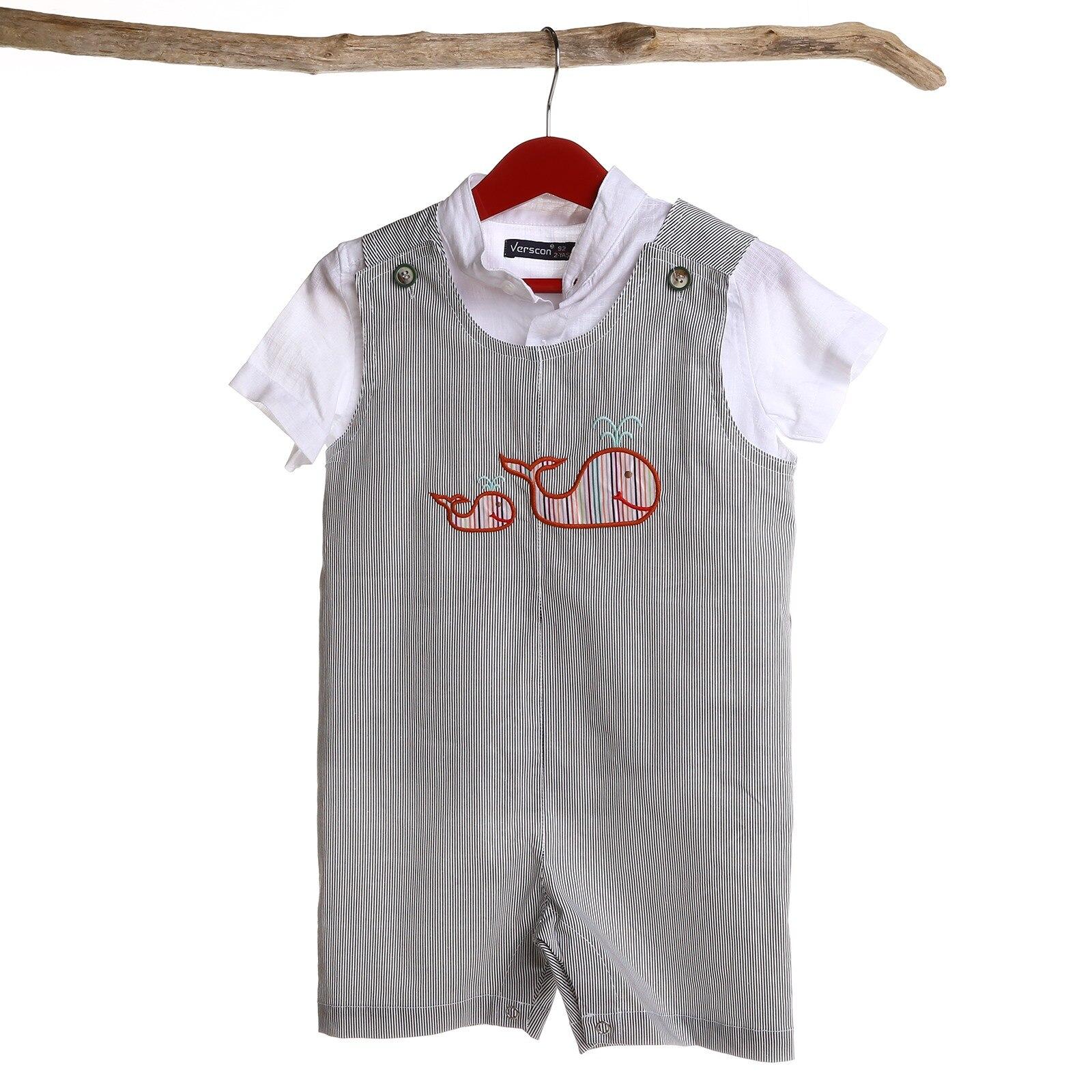 Verscon Texture Jumpsuit, Gray, 9 Months