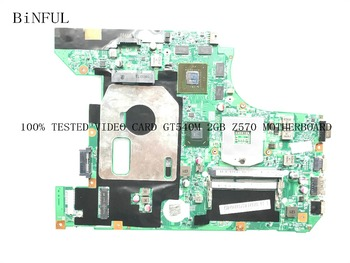 BiNFUL STOCK 100% TESTED LZ57 10254-2N 48.4M404.02N  MAIN BOARD FOR LENOVO Z570 LAPTOP MOTHERBOARD  GT540M 2GB