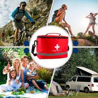 Nylon Striking Cross Symbol High density Ripstop Sports Camping Home Medical Emergency Survival First Aid Kit Bag Outdoors