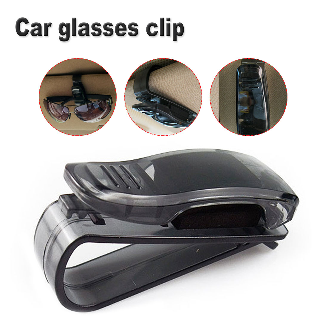 Practical Auto Fastener Auto Accessories ABS Car Vehicle Sun Visor Sunglasses Eyeglasses Glasses Ticket Holder Clip in Eyewear Accessories from Apparel Accessories