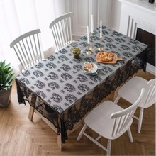 New Tablecloth Lace Polyamide Fiber Rectangular Birthday Party Decorations Transparent Table Cover For Dinner