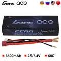 Gens ace Lipo Batterie 2 S 6500 mAh 6800 mAh Lipo 7,4 V Batterie Pack 50C 1/10 1/8 Skala für traxxas Slash 4x4 RC Auto Deans Stecker