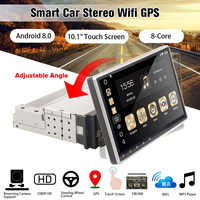 """10.1"""" Android 8.0 Car Radio 1 Din 8Core Stereo Receiver GPS Stereo Wifi bluetooth RDS Audio Universal Car Multimedia Player"""
