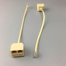 RJ11 6P4C 2 Way Outlet телефонной линии Splitter адаптер бежевый купить 10 шт. экономьте