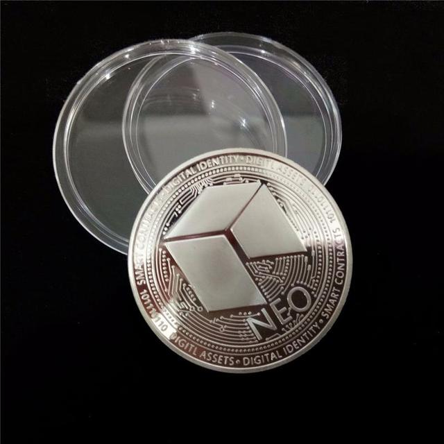 NEO Coin Virtual Metal Commemorative Coin NEO Virtual Coin Bitcoin Commemorative Coin Customized Medal Giveaway 5