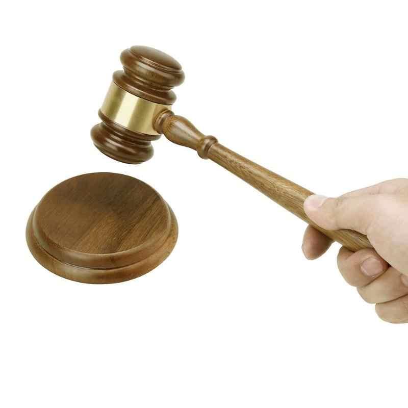 Wooden Auction Hammer Judge Auctioneer Lawyer Court Gavel Sound Block Handcraft