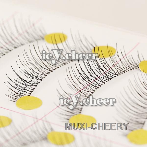 ICYCHEER 10 Pairs  Natural Makeup False Eyelashes Long Cross Thick Fake Eye Lashes Handmade Eyelash Extension Beauty Bride Party