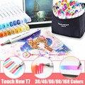 Набор маркеров TouchNew7 30/40/60/80/168 цветов  набор художественных кистей с двойной головкой  маркеры для рисования  школьные товары для рукоделия