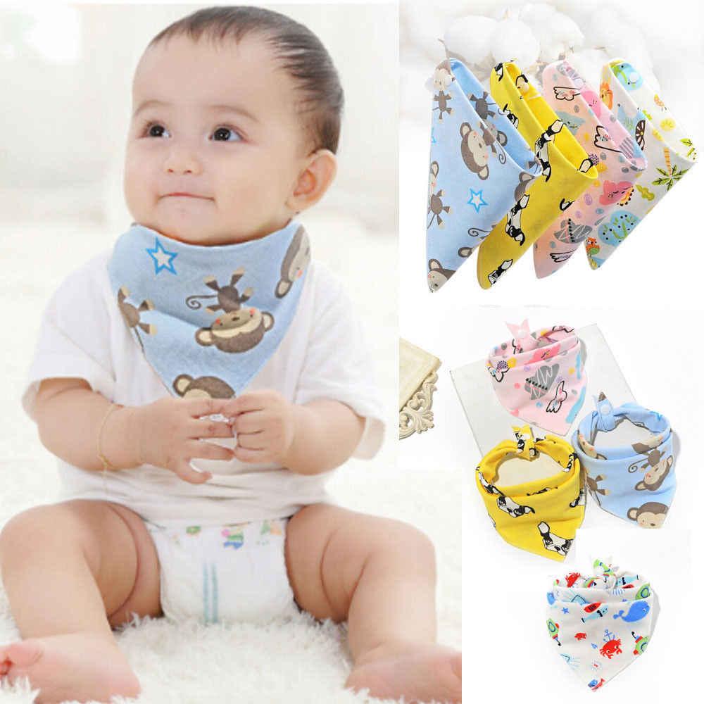 Babadores do bebê recém-nascidos meninos meninas alimentação cabeça bib lenço dos desenhos animados toalha bandana saliva triângulo dribble babadores de algodão do bebê 0-3 t