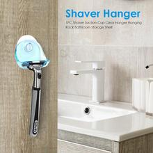цены на 1PC Shaver Hanger Suction Cup Clear Hanger Rack Bathroom Razor Holder Shelf Shaver Storage Sucker Wall Hook Hangers  в интернет-магазинах