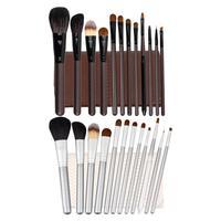 12 PCS Cosmetic Top Quality Hair Makeup Brushes Set Facial Eye Lip Makeup Tools and PU Leather cosmetic Bag