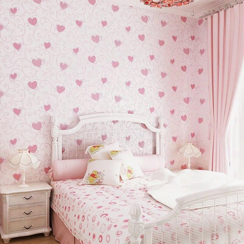 Sweet Cartoon 3d Embossed Heart Pattern Wallpaper Kids Rooms Pink Girl Bedroom Decor Wallpapers Self Adhesive Wall Paper Ez050 Wallpapers Aliexpress
