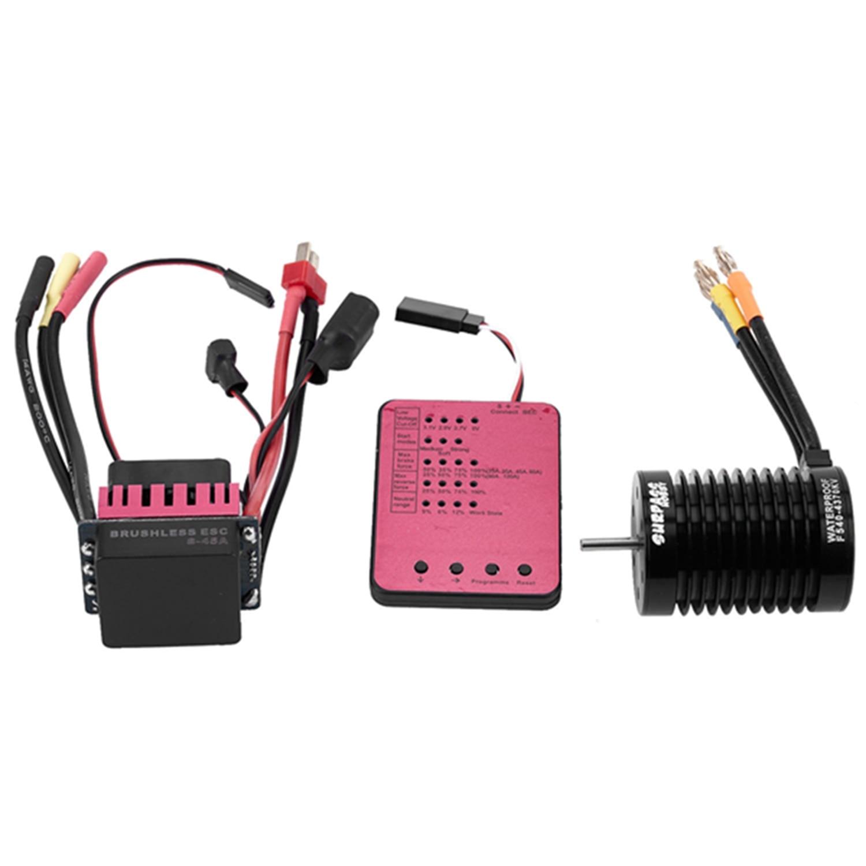 Surpass Hobby F540 4370Kv 4P Brushless Motor & 45A Esc & Led Programming Card Combo Rc Set